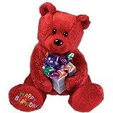TY Beanie Baby - HAPPY BIRTHDAY the Bear ( Red - w/ Present )