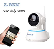 Z-BEN Wireless Network IP Camera WiFi Smart Security Defender for Family Indoor 720P HD Cctv Night Vision Two-Way Audio Support Android IOS PC