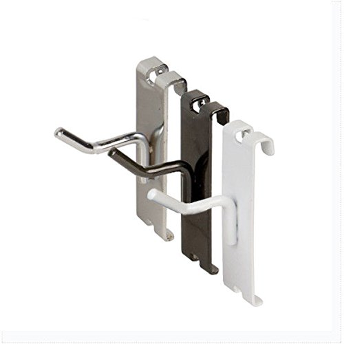 1'' Gridwall Hooks, Grid Panel Display Hangers - Chrome - 10 Pack by Store Fixtures Direct