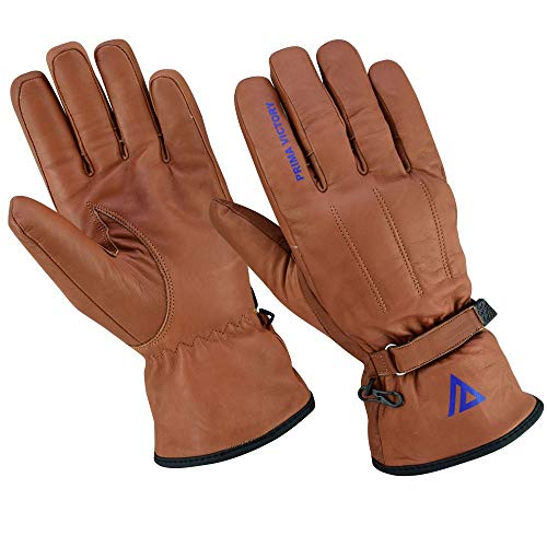 (Prima Victory MIRZAM All-Season General Purpose 100% Cowhide Leather Gloves for Men (Small) )