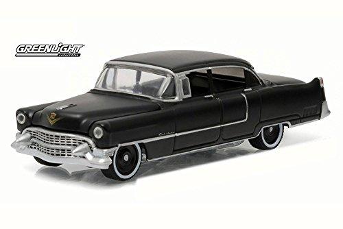 Cadillac 1955 Fleetwood Series 60 Black Bandit 1/64 by Greenlight 27860 - Model Cadillac Black