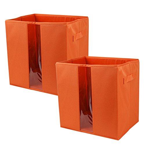 Square Collapsible Canvas Storage Box Foldable Kids Toys: Transparent Storage Bins. InterDesign Linus Bathroom
