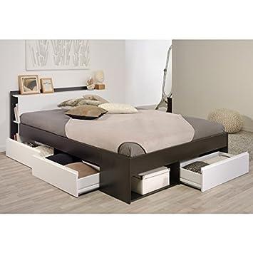 Funktionsbett Most Parisot 160*200 cm braun / weiß kaffee inkl 3  Roll-Bettkästen Jugendzimmer Kinderzimmer Schlafzimmer Bett Kinderbett  Jugend