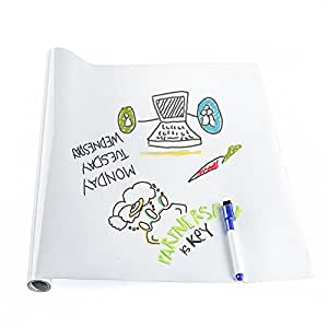 Amazon.com: Pizarra blanca de papel de contacto – 17.7 ...