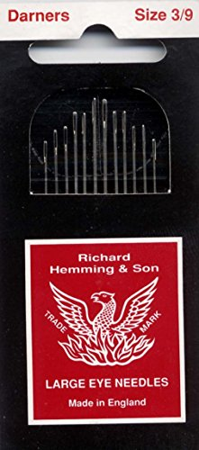 Colonial Needle 12 Count Richard Hemming Darners Assorted Needle, Size 3-9