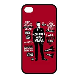 ROBIN YAM Hard Flexible Slim Rubber Cover Case for iPhone 4 / 4S, Sherlock Phone Cases -ARY154