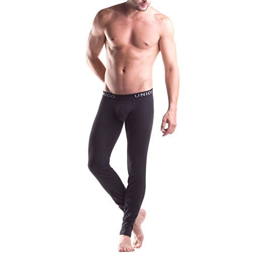 Mundo Unico Men's Intenso Long Johns, Black, X-Large