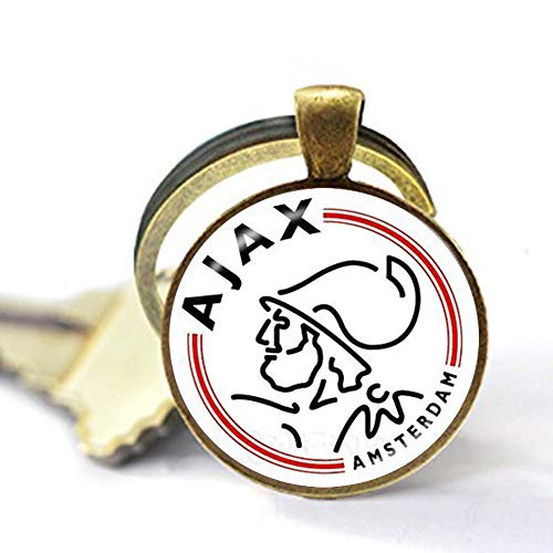Football Club 25mm Glass Cabochon Necklace Ajax PSV Football Leagues Logo Soccer Club Pendant 2 Keychain Literary Jewelry