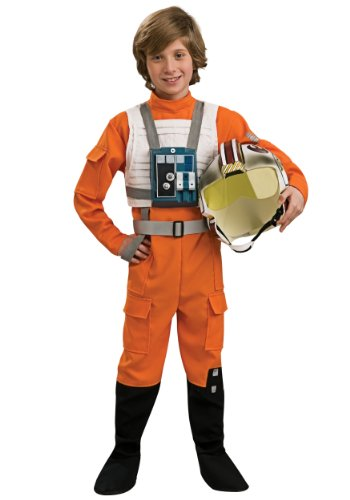 [Star Wars X-Wing Pilot Child Costume Size 4-6 Small] (Luke Skywalker Costume Black Kids)