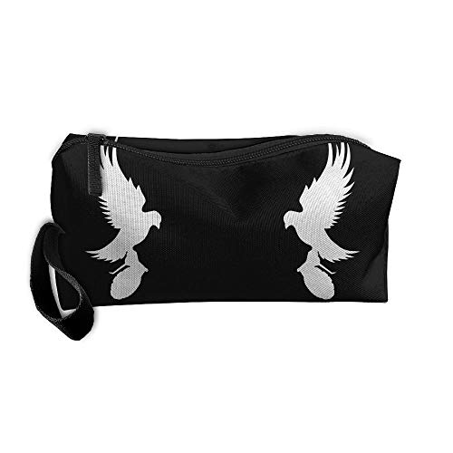 - Jessent Coin Pouch Mirror Dove Pen Holder Clutch Wristlet Wallets Purse Portable Storage Case Cosmetic Bags Zipper