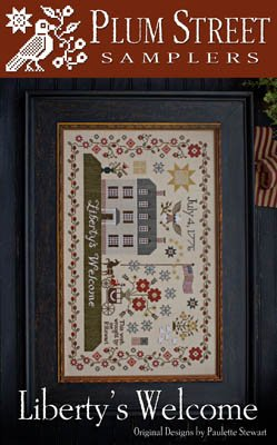 Liberty's Welcome Cross Stitch Chart and Free Embellishment