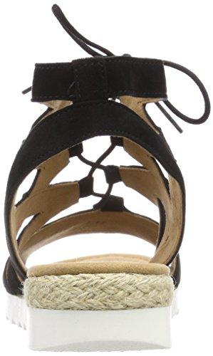 Comfort Sport Caviglia Donna Nero Gabor schwarz Con Jute Cinturino Sandali Alla CdW1qw5Uq