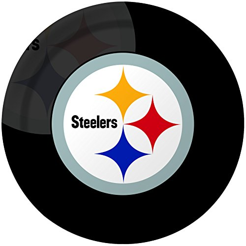 Creative Converting 8 Count Pittsburgh Steelers Paper Dinner (College Costume Ideas 2016)