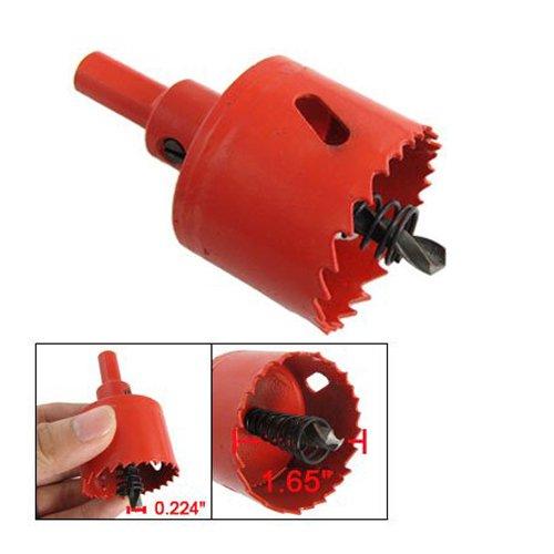 TOOGOO R 42mm de diametre Foret de perce helicoidal en metal Rouge