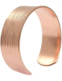 Chased Copper Cuff Bracelet 100% Solid Copper - 7 Year...