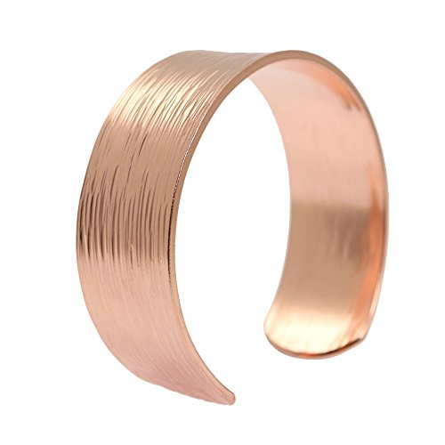 Chased Copper Cuff Bracelet Solid product image