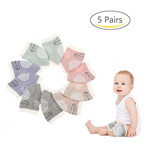 Coresto Baby Knee Pads Cotton Baby Crawling Knee Pads for Toddler(5 Pairs)