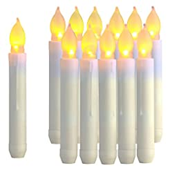 Raycare 12PCS LED Taper Candle Lights, H...