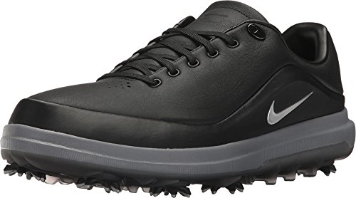 Tiger Golf Shoes - Nike Men's Golf Air Zoom Precision Shoes, Black/Metallic Silver-Challenge Red, 12 2E Wide