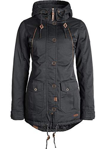 DESIRES Annabelle Damen Übergangsjacke Parka Mantel warme Jacke gefüttert mit Kapuze