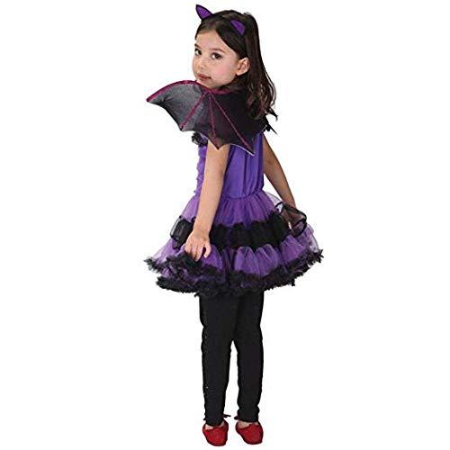 BESTHINKY 3 Piezas de Disfraces de Halloween Cosplay Party Outfit Dress +  Hair Hoop + Bat Wing para niñas de 2-15 años de Edad  Amazon.es  Ropa y  accesorios 3d64693c1705