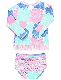 b38c90046 Baby/Toddler Girls Rash Guard 2-Piece Swimsuit Set - Long Sleeve Bikini with