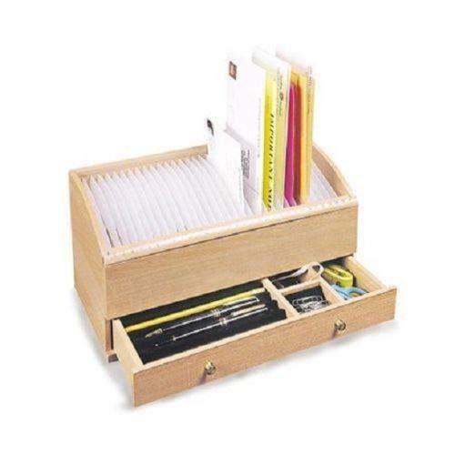 Wood Mail Organizer – Monthly Bill Organizer – Mail Organization Bills Organizer – Large Letter Organizer – Mail Organizer Wood Personal Secretary