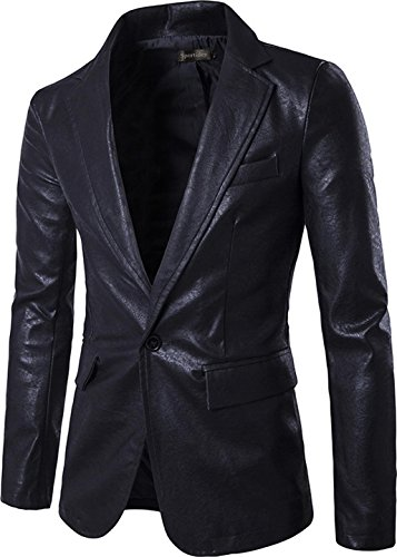 Black Leather Blazer Mens - 9