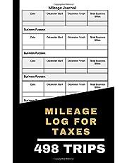 Vehicle Mileage Log: Small size simple mileage log book: 5 x 8 Fits in Glove Box, Vehicle mileage tracker, Business mileage log book