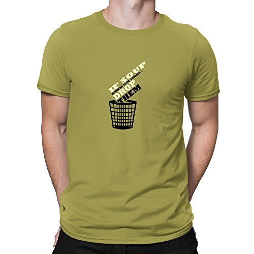 Teeburon If Soup hinders your studies, drop them (Drop Them Mens T-shirt)