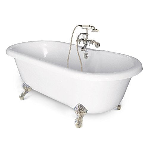 American Bath Factory CC-DC-B-SN Chelsea Collection Double Ended Tub Package