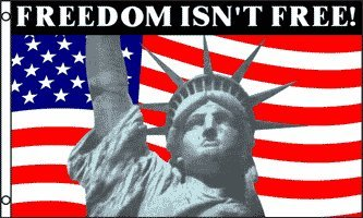 3'x5' Freedom Isn't Free Statue of Liberty Flag American Patriotic USA