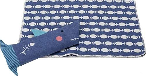 Decken-Set Hai Juwel David Fussenegger 2-teilig Samtblau