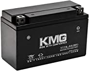 KMG Battery Compatible with Yamaha 450 YFZ450 2004-2009 YT7B-BS Sealed Maintenance Free Battery High Performan