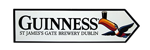 Guinness Metal Toucan James Gate Road Sign (White)