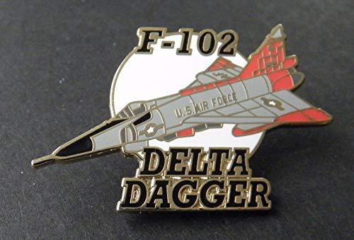 Pin for Hats - Delta Dagger F-102 CONVAIR US AIR Force Jet Interceptor Aircraft Lapel PIN 1.25'' - Decoration for ()