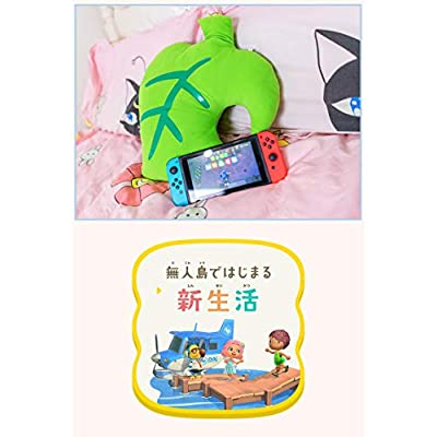 FUNKY STORE New Leaf Plush Toy Green Leaf Shape Pillow Plush Doll Home Decoration Kids' Doll Collectible for Animal Crossing: Home & Kitchen