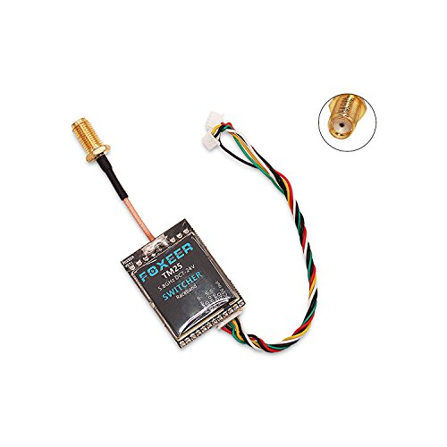 FalcoRC FOXEER FPV Transmitter Switcher 25mW 200mW 600mW 5.8G 40CH Switcher Adjustable VTX with Pigtail SMA Female for FPV Drone Multirotor