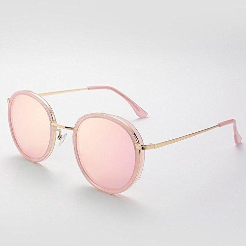 en Ronde Gold Lunettes Metal Polarisées Les Rose Sunglasses de de Femmes TL Girl Soleil Lunettes qvU4n