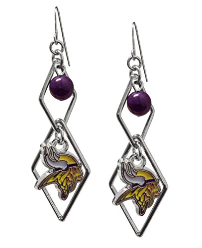 Viking Logo Ring - NFL Minnesota Vikings Triangle Logo Dangler Earrings