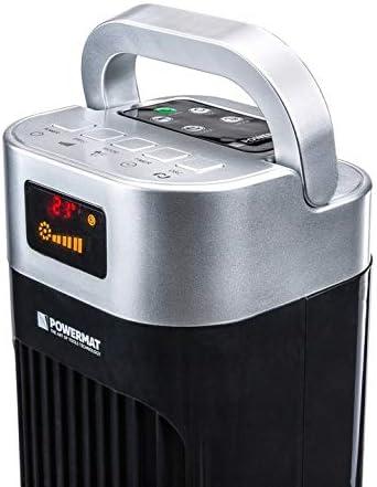 1 x zwarte zuilventilator 121 cm 90 W oscillator ventilator ventilator GKMeLaV1