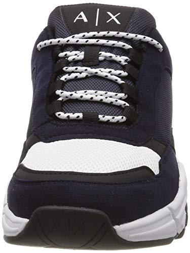 Da Armani Sneaker White C929 Basse Microsuede Scarpe Up Multicolore Ginnastica Lace Exchange Black navy Uomo nFwFYpqB
