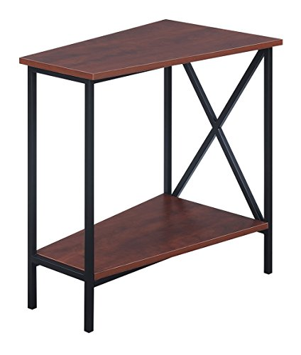 Convenience Concepts Tucson Wedge End Table, Black / Cherry by Convenience Concepts Tucson Wedge End Table, Black / Cherry (Image #3)'