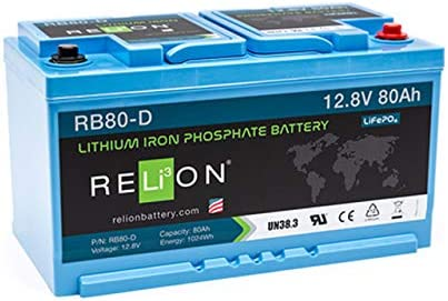 Lithium 80ah Lifepo4 Batterie Rb80 Din Relion Baumarkt