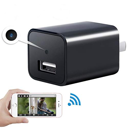 - Mini 1080P WIFI HD Hidden Spy Camera Plug Wall Charger Video Recorder Motion Detection Wireless Real-time Remote See Live Nanny Cam