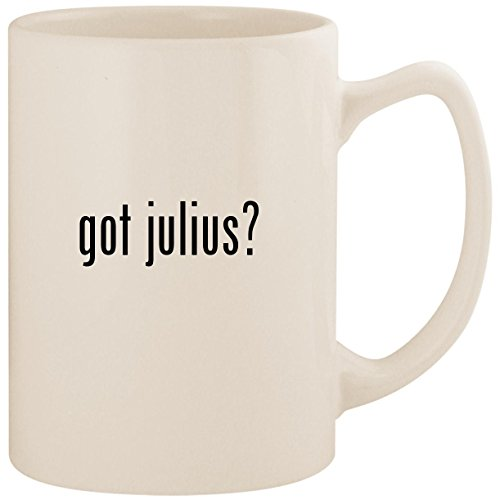 got julius? - White 14oz Ceramic Statesman Coffee Mug Cup