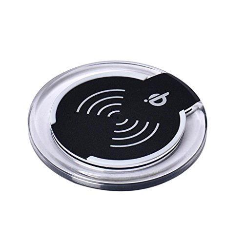 Morrivoe 10W Qi Wireless Charging Charger Charge Pad Dock for Samsung Galaxy S7/S7 edge/S6/S6 Edge and Other Qi Compliant Device (Black)