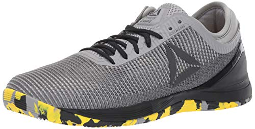 Reebok Men's CROSSFIT Nano 8.0 Flexweave Cross Trainer, Shark/Tin Grey/Ash Grey/Black/Go Yellow, 10 M US