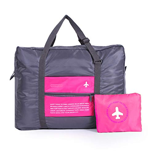 "ShiQiMa Travel Duffel Bag Foldable Water Resistant Nylon,30L/22"" Lightweight Travel Duffel Bag Meet Spirit Airlines…"