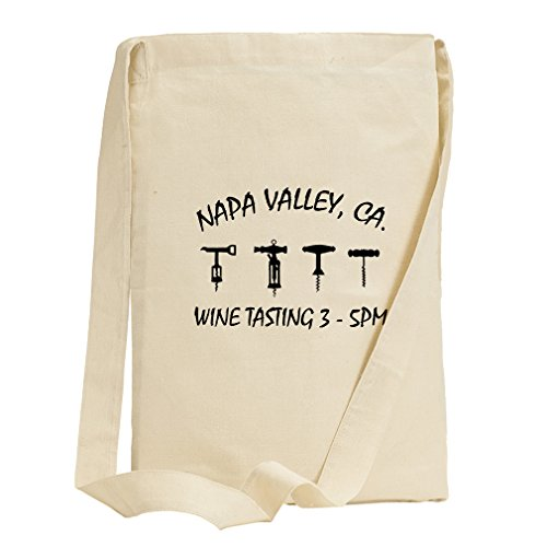 Napa Valley Ca Wine Tasting 3 Canvas Sling Tote - Ca In Napa Shopping